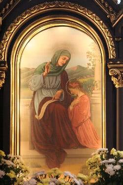 Święta Anna na obrazie nastawy ołtarzowej